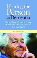 Hearing the Person with Dementia Pdf/ePub eBook