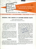 Pdf Seasonal Twig Growth of Southern Browse Plants