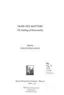 Same sex Matters Book