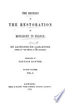 The history of the restoration of monarchy in France