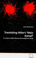 Translating Hitler s  Mein Kampf  Book