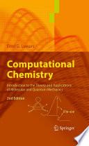 Computational Chemistry Book PDF