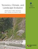 Tectonics, Climate, and Landscape Evolution