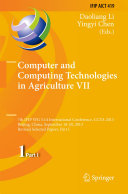 Computer and Computing Technologies in Agriculture VII
