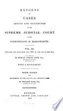 Massachusetts Reports Book