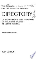 Directory of Departments and Programs of Religious Studies in North America
