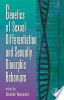 Genetics Of Sexual Differentiation And Sexually Dimorphic Behaviors Book PDF