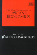 The Elgar Companion to Law and Economics