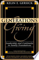 Generations of Giving Book