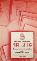 Canadian Government Publications  Monthly Catalogue