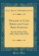 Dealers in Cage Birds and Cage Bird Supplies