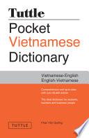 Tuttle Pocket Vietnamese Dictionary Book