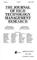 Journal of High Technology Management Research Book