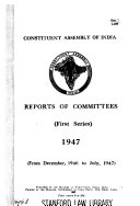 Reports of Committees of the Constituent Assembly of India Book