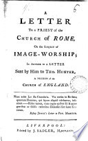 A Letter to a Priest of the Church of Rome on the Subject of Image worship  Book