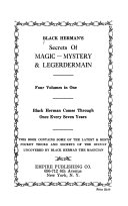 Black Herman S Secrets Of Magic Mystery Legerdermain