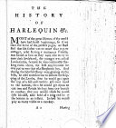 The History and Comical Adventures of Harlequin and His Pleasing Companion  Columbine