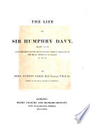 The life of sir Humphry Davy, bart