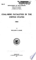 Coal mine Fatalities in the United States  1924