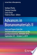 Advances in Bionanomaterials II