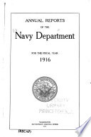 Annual Reports of the Navy Department for the Fiscal Year
