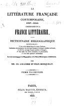 La littérature française contemporaine