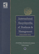 International Encyclopedia of Business and Management