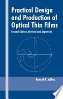 Practical Design And Production Of Optical Thin Films Book PDF