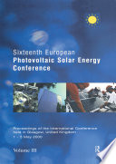 Sixteenth European Photovoltaic Solar Energy Conference Book