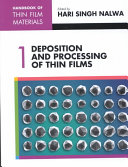 Handbook Of Thin Film Materials Deposition And Processing Of Thin Films Book PDF