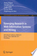 Emerging Research in Web Information Systems and Mining Book