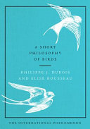 Book cover of A short philosophy of birds