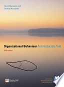 Organizational Behaviour An Introductory Text (Fifth Edition)