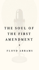 Book cover of The soul of the First Amendment