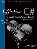 Book cover of Effective C♯ : 50 specific ways to improve your C♯