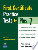 FIRST CERTIFICATE PRACTICE TEST PLUS 1