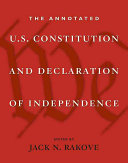 Book cover of The annotated U.S. Constitution and Declaration of Independence