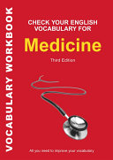 Book cover of Check your English vocabulary for medicine.