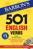 Book cover of 501 English verbs : fully conjugated in all the tenses in a new easy-to-learn format, alphabetically arranged