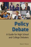 Book cover of Policy debate : a guide for high school and college debaters