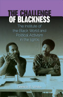 The challenge of blackness: the Institute of the Black World and political activism in the 1970s, black and grey picture of two people with purple border, white and black text