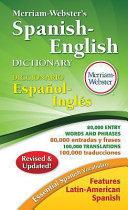 Book cover of Merriam-Webster's Spanish-English dictionary = Diccionario Español-Inglés.