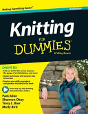 Book cover of Knitting for dummies