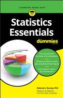 Book cover of Statistics essentials