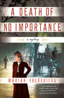 Book cover of A death of no importance