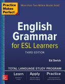 Book cover of English grammar for ESL learners