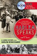Book cover of Harlem speaks : a living history of the Harlem Renaissance