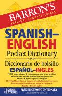 Book cover of Spanish-English pocket dictionary = Diccionario de bolsillo español-inglés.