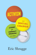 Book cover of Activism and social change : lessons for community organizing