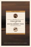 Book cover of Mark Twain's Adventures of Tom Sawyer and Huckleberry Finn